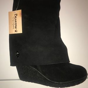 Bear Paw Boots - Black Suede Size 9